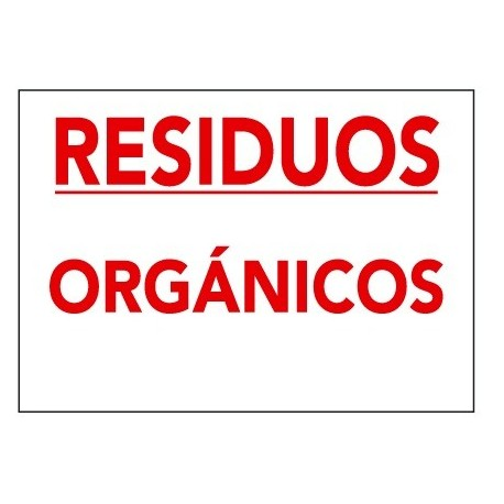 Placa De Señalización De Residuos R-014