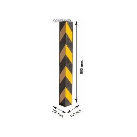 Esquinera de caucho amarilla negra