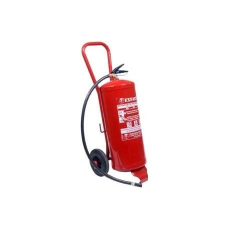 Extintor De Polvo De 25 kg. Sobre Ruedas