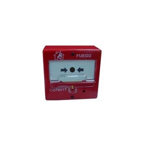Pulsador de alarma rearmable Cofem